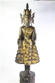 Sale 8810 - Lot 4 - Burmese Buddha Jambupati on Double Lotus Pedestal