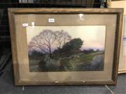 Sale 8990 - Lot 2024 - Albert Hansen, Sheep & Shepard, water colour, frame: 37 x 51 x 2 cm, signed lower right