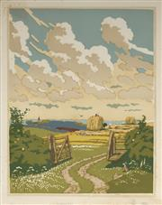 Sale 9078A - Lot 5080 - John Hall Thorpe (1874-1947) (2 works) - The Open Gate (pair) 35.5 x 28 cm (sheet: 38.5 x 30.5 cm)