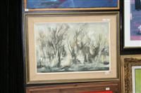 Sale 7923 - Lot 554 - Ken Taber - Forest Scene