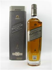 Sale 8290 - Lot 471 - 1x Johnnie Walker Platinum Label 18YO Blended Scotch Whisky - 750ml in box