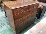 Sale 8814 - Lot 1053 - George III Mahogany Chest of Five Drawers, with later pierced brass handles & bracket feet