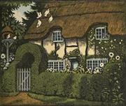 Sale 9078A - Lot 5072 - John Hall Thorpe (1874-1947) (3 works) - Old Thatch 23 x 29 cm (sheet: 25.5 x 30.5 cm)