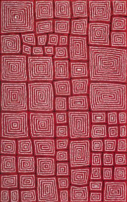Sale 9148A - Lot 5031 - THOMAS TJAPALTJARRI (c1964 - ) Tingari acrylic on canvas 152 x 96 cm (stretched and ready to hang) signed verso; certificate of auth...