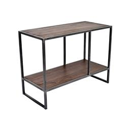 Sale 9140F - Lot 60 - Industrial inspired shelf made with reclaimed fir & forged iron supports. Dimensions: W70 x D32 x H52 cm