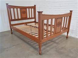 Sale 9157 - Lot 1013 - Federation slated double bed  (h135cm)