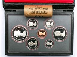 Sale 9164 - Lot 57 - 1981 Royal Canadian Mint Proof Coin Set, Together with Australian Roll of (20) 1984 1$, Coins