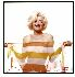 Sale 3809 - Lot 63B - BERT STERN (American, 1930-) - Marilyn Monroe in Striped Scarf, 1962 24.5 x 24.5 cm