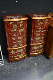Sale 8105 - Lot 1011 - Pair of Oriental 9 Drawer Chests