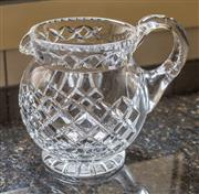 Sale 8270 - Lot 78 - A good quality hand cut lead crystal water jug, c: 1940's