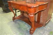 Sale 8267 - Lot 1033 - Late 19th Century Huon Pine Hall Table, with later shaped top, above a drawer & carved cabriole legs