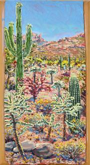 Sale 8389 - Lot 537 - Lucy Culliton (1966 - ) - Cactus Landscape, 2005 (Arizona Series) 52 x 26cm