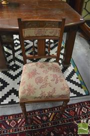 Sale 8392 - Lot 1041 - Three Edwardian Walnut Chairs