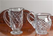 Sale 8470H - Lot 59 - Two quality cut glass jugs, taller 20cm