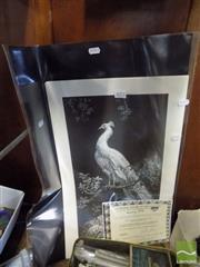 Sale 8474 - Lot 2072 - Lionel Lindsay, Quantity of (6) facsimile etchings, Morning Glory (3) & The White Peacock (3) (each with copy of certificate)