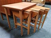 Sale 8476 - Lot 1036 - Nathan Teak Nest of Tables