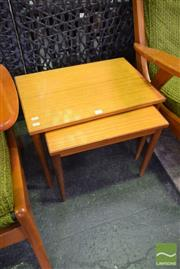 Sale 8532 - Lot 1278 - Nest of Two Retro Side Tables