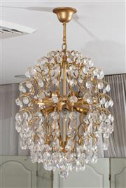 Sale 8782 - Lot 1376 - An Italian crystal oval form chandelier with eight globes, drop is approx 60cm