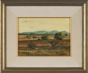 Sale 8847A - Lot 5016 - Michael Taylor - Afternoon in the Flinders 17 x 23.5cm