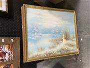 Sale 8927 - Lot 2083 - Group of Assorted Artworks incl. retro tapestry, watercolour and oil painting