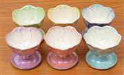 Sale 9044H - Lot 80 - A set of six Maling Ware of pastel sundae dishes