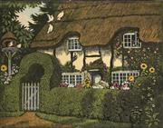 Sale 9078A - Lot 5071 - John Hall Thorpe (1874-1947) (2 works) - Old Thatch (pair) 23 x 29 cm (sheet: 25.5 x 30.5 cm)