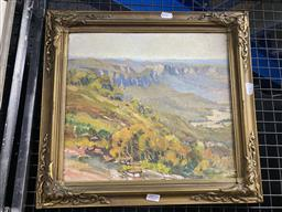 Sale 9159 - Lot 2020 - Col Birkenhead Blue Mountains oil on board, frame: 40 x 43 cm, signed lower right