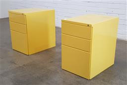 Sale 9166 - Lot 1054 - Pair of metal filing cabinets with three drawers (h60 x w40 x d55cm)