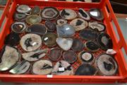 Sale 8087 - Lot 1083 - Crate Polished Natural Agate Slices