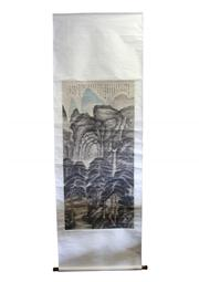 Sale 8153 - Lot 34 - Chinese Painting Scroll Attributed to Shitao (1641-1707)