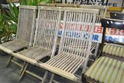 Sale 8175 - Lot 1097 - Set of 6 Timber Folding Outdoor Chairs