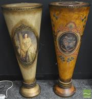 Sale 8262 - Lot 1019 - Pair of Painted Pedestals