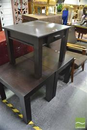 Sale 8386 - Lot 1080 - Pair of Side Tables with Another