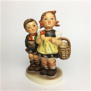 Sale 8456B - Lot 14 - Hummel Figure of a Boy & Girl with Flowers