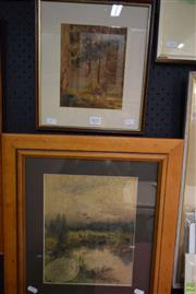 Sale 8578T - Lot 2052 - (2 works) Early C20th Landscape Watercolours by Unknown Artist (A/F) (framed/various sizes)