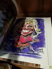 Sale 8609 - Lot 2089 - 5 Dolly Parton Caricatures, Limited Edition