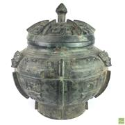 Sale 8649 - Lot 74 - Large Chinese Bronze Lidded Vessel