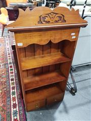 Sale 8863 - Lot 1078 - Pine Wall Mount Shelving with Two Drawers