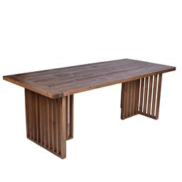 Sale 9140F - Lot 61 - Contemporary old fir wood 2.2m dining table in natural brown. Dimensions: W220 x D95 x H78 cm
