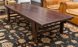 Sale 9160H - Lot 101 - A Chinese elm coffee table of mortise and tenon construction, Height 51cm x Width 215cm x Depth 91cm