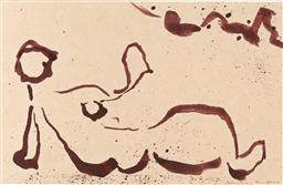 Sale 9216A - Lot 5092 - CHRISTINA CORDERO (1938 - ) Reclining Nude III, 1990 ink on paper 15.5 x 23.5 cm (frame: 35 x 41 x 2 cm) labelled verso