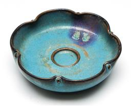Sale 9253 - Lot 202 - A lobed Chinese Junyao bowl (Dia:14cm)