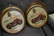 Sale 8093 - Lot 1146 - Collection of Indian Motorcycle Wall Hangings (8)