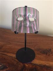 Sale 8259A - Lot 36 - A Murano Three Colour Glass Mask, traditionally modelled with pink highlights, on custom stand, h 14cm