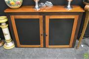 Sale 8262 - Lot 1016 - Timber Panelled Door Cabinet with internal shelves