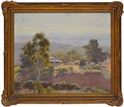 Sale 8316 - Lot 585 - John Rowell (1894 - 1973) - Farmlands 29.5 x 35cm