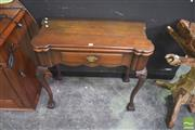 Sale 8331 - Lot 1001 - Georgian Style Carved Walnut Fold Over Card Table