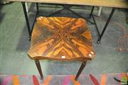Sale 8337 - Lot 1075 - Timber Shield Shaped Top Occasional Table