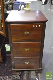 Sale 8341 - Lot 1002 - Mahogany Three Drawer Filing Cabinet
