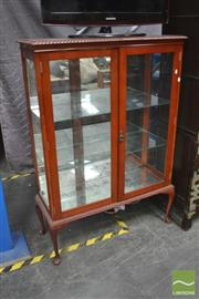 Sale 8406 - Lot 1135 - Timber Display Cabinet